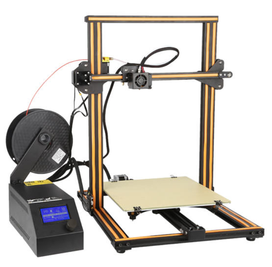CR10 3D printer front view 300x300x400 orange angled