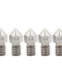 5x 0.4 stainless steel 3D printer nozzle