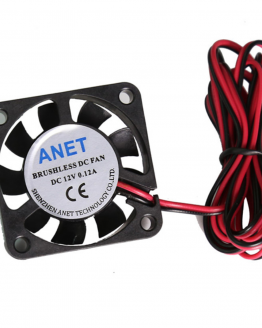 12v 40x40x10 3D printer fan front view