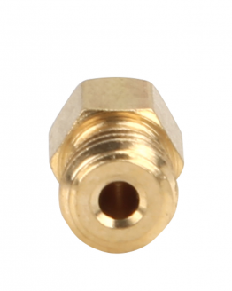 M6 brass 3D printer nozzle end view
