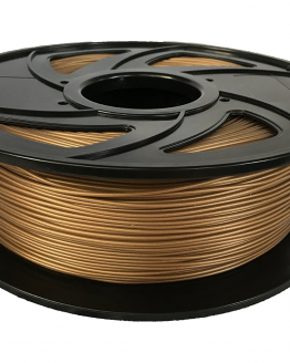 Kiwi3D Gold PLA filament on side