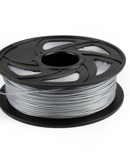 Kiwi3D Silver PLA filament laying down