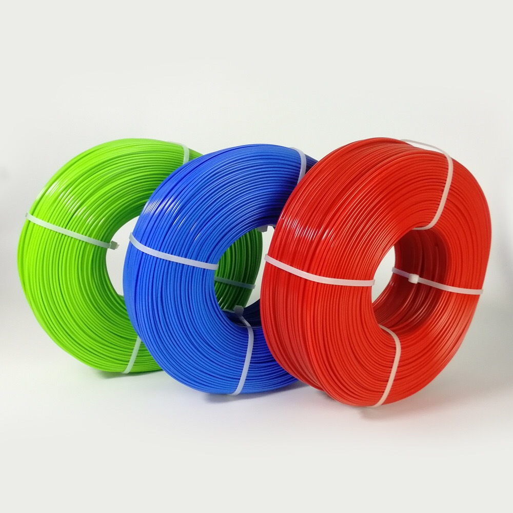 Green, Blue, Red masterspool PLA filament refill