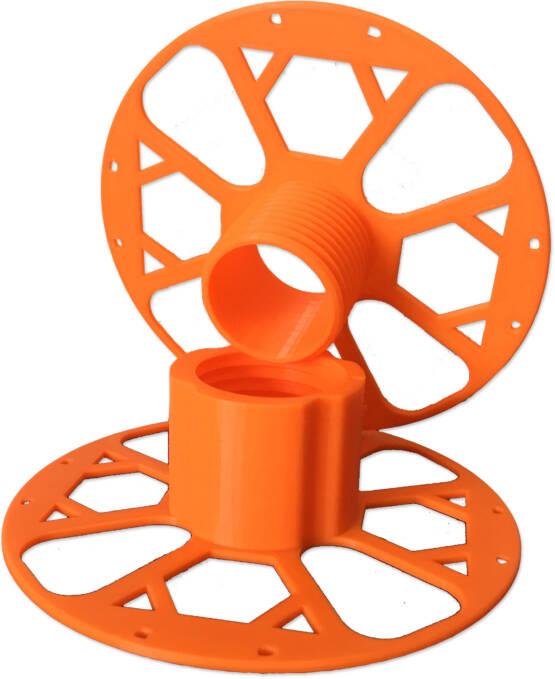 3D printed orange masterspool separated spool